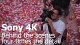 本物の花びら800万枚を使ったCM「Sony 4K – Four times the detail」