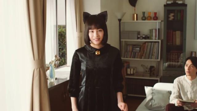 広瀬すずが可愛い猫に!明星チャルメラのCM