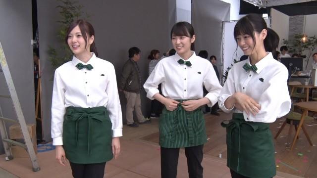 乃木坂46がカフェ店員として出演する明治ロカボーノのCM